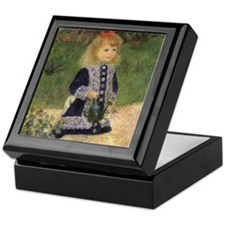 Renoir Girl w Watering Can Keepsake Box