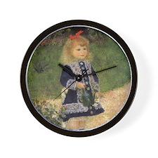 Renoir Girl w Watering Can Wall Clock
