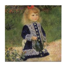 Renoir Girl w Watering Can Tile Coaster