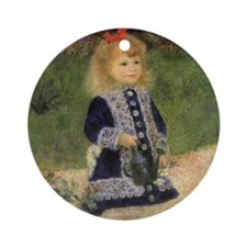 Renoir Girl w Watering Can Ornament (Round)