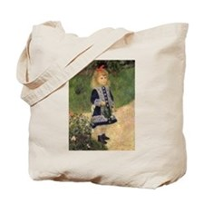 Renoir Girl w Watering Can Tote Bag