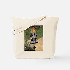 Renoir Girl w Watering Can Tote Bag