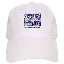 HERO Comes Along 1 Husband CC Baseball Cap