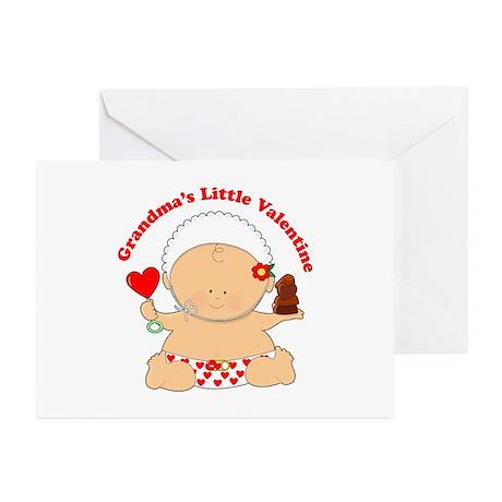 Grandma's Little Valentine Greeting Cards (Pk of 2