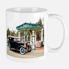 Model A at gas station Mugs
