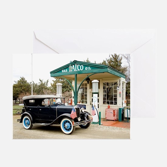 Cute Old cars Greeting Card