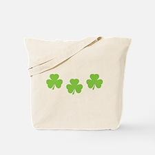 three 3 shamrocks Tote Bag