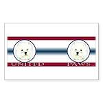 West Highland United Paws Rectangle Sticker