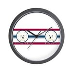 West Highland United Paws Wall Clock