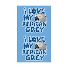 Kawaii Congo African Grey Sticker (2 in 1)