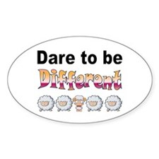 Dare to Be Different Oval Decal