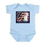 Westie Patriotic Flag Infant Creeper