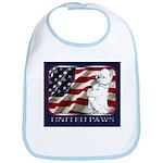 Westie Patriotic Flag Bib