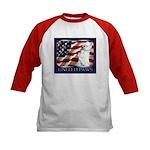 Westie Patriotic Flag Kids Baseball Jersey