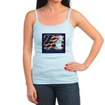 Westie Patriotic Flag Jr. Spaghetti Tank