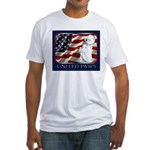 Westie Patriotic Flag Fitted T-Shirt