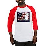 Westie Patriotic Flag Baseball Jersey
