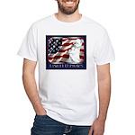 Westie Patriotic Flag White T-Shirt