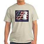 Westie Patriotic Flag Ash Grey T-Shirt