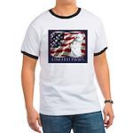 Westie Patriotic Flag Ringer T