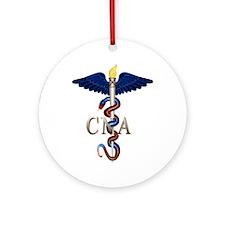 CNA Caduceus Ornament (Round)