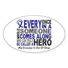 HERO Comes Along 1 Grandpa CC Oval Decal