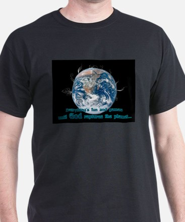 Unique End of the world beer drinking T-Shirt