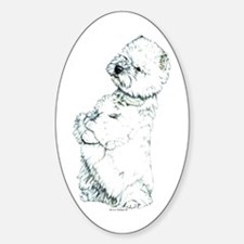 West Highland White Terrier Westie Oval Decal