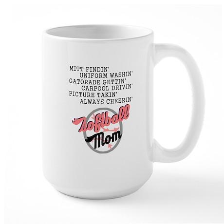 SOFTBALL MOM 2 Large Mug