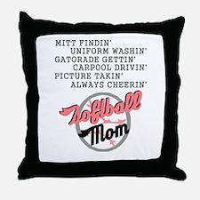 SOFTBALL MOM 2 Throw Pillow