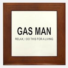 Gas Man Framed Tile
