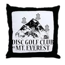 MT. Everest Disc Golf Club Throw Pillow