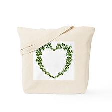 """Shamrock Heart"" Tote Bag"