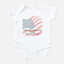 """""""Rush Loves America"""" Infant Bodysuit"""