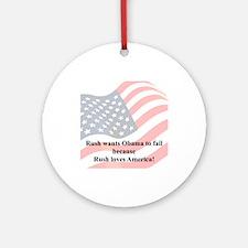 """Rush Loves America"" Ornament (Round)"