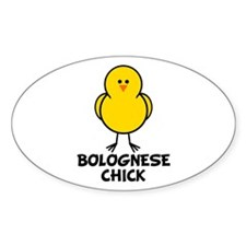 Bolognese Chick Oval Decal