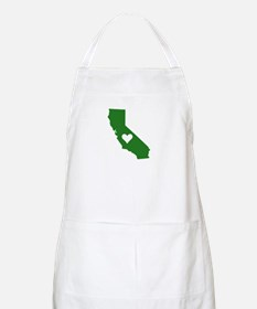 Green California BBQ Apron
