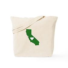 Green California Tote Bag