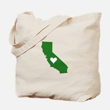 Green California Tote Bag