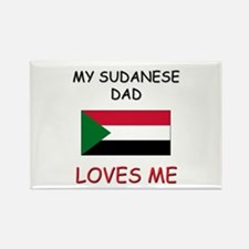 My SUDANESE DAD Loves Me Rectangle Magnet