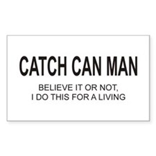 Catch Can Man Rectangle Decal