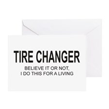 Tire Changer Greeting Card