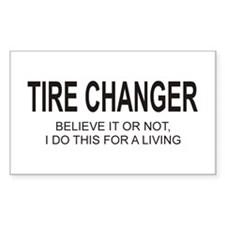 Tire Changer Rectangle Decal