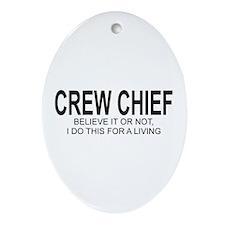 Crew Chief Oval Ornament