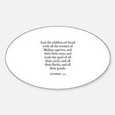 NUMBERS 31:9 Oval Decal