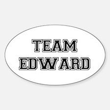 TEAM EDWARD (black) Oval Decal