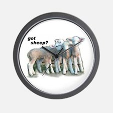 Got Sheep Lambs Wall Clock