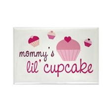 Mommy's Lil' Cupcake Rectangle Magnet