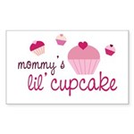 Mommy's Lil' Cupcake Rectangle Sticker