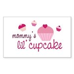Mommy's Lil' Cupcake Rectangle Sticker 10 pk)